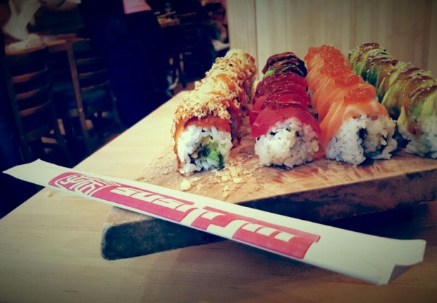 Sushi Jin Next Door rolls